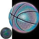 YZPXDD Réfléchissant Lumineux rougeoyant Holographic Panier Ball- lumière Caméra Flash Phosphorescent Basketballs - Cadeaux Hoop Jouets for Les Enfants et garçons - Parfait Toy (Couleur : B)