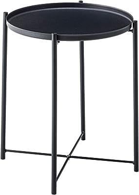 東谷 AZUMAYA トレーテーブル 幅48×奥行き48×高さ52cm ブラック LFS-880BK