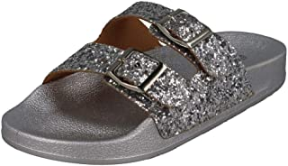 Spot On Girls Glittery Mules