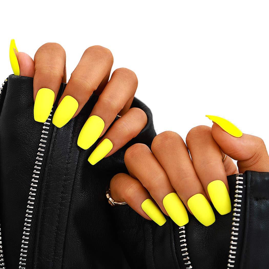 Campsis 24PCS Matte Fake Recommended Nails Pure Color Coffin False Nail Fash Sale special price