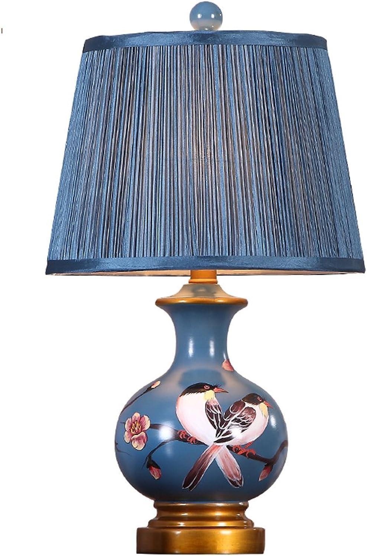 XUE Europäische Tischlampe Schlafzimmer Luxus Retro American Tischlampe Schlafzimmer Nachttisch Lampen Wohnzimmer ländlichen Studie B072J6TQGM     | Räumungsverkauf