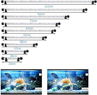 MLJ LED Aquarium Light, 7-44 Inch Waterproof Fish Light Whith with Blue, RGB Underwater Lamp Submersible LED Light for Fish Tank