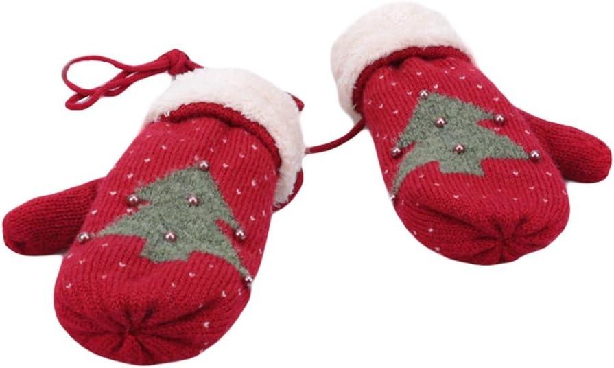 Panda Legends Warm Knitted Glove Winter Warm Mittens Full Finger Ski Gloves Halter Gloves