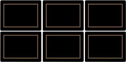 Pimpernel Classic Black Placemats, Set of 6