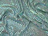 Pailletten-Polyester-Chiffon-Kleiderstoff, Eisblau,