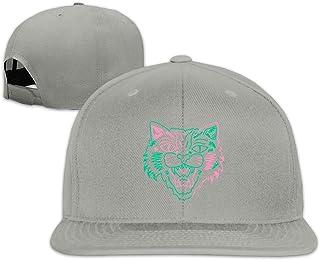 Unisex Fashion Colorful Tiger Animal Face Baseball Caps Buckle Design Adjustable Trucker Hat Black