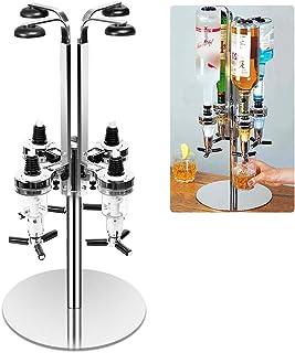 Revolving Liquor Dispenser, Professional Alcohol Caddy Liquor Shot Dispenser Push Down Bar Butler Station Liquor Bottles H...