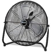 Patton PUF2010CBM High Velocity Fan, 3-Speed, Black, 24-1/2-Inch W x 8-5/8-Inch H Overall Size