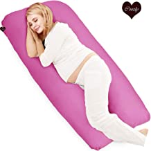 COOZLY Pregnancy U LYTE Pillow with fine HQ Fibres and Fuschia Cover U11 (Pink, 4.5 Kg)