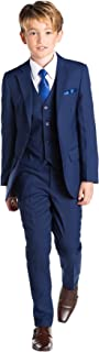 Paisley of London, Kingsman Blue, Boys Slim Fit Occasion Wear, Kids Formal Wedding Suit Set, X-Large - 20