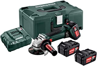 Metabo 602174960 W 18 LTX 125 Quick Cordless Angle Grinder, Green, Grey, Black, red