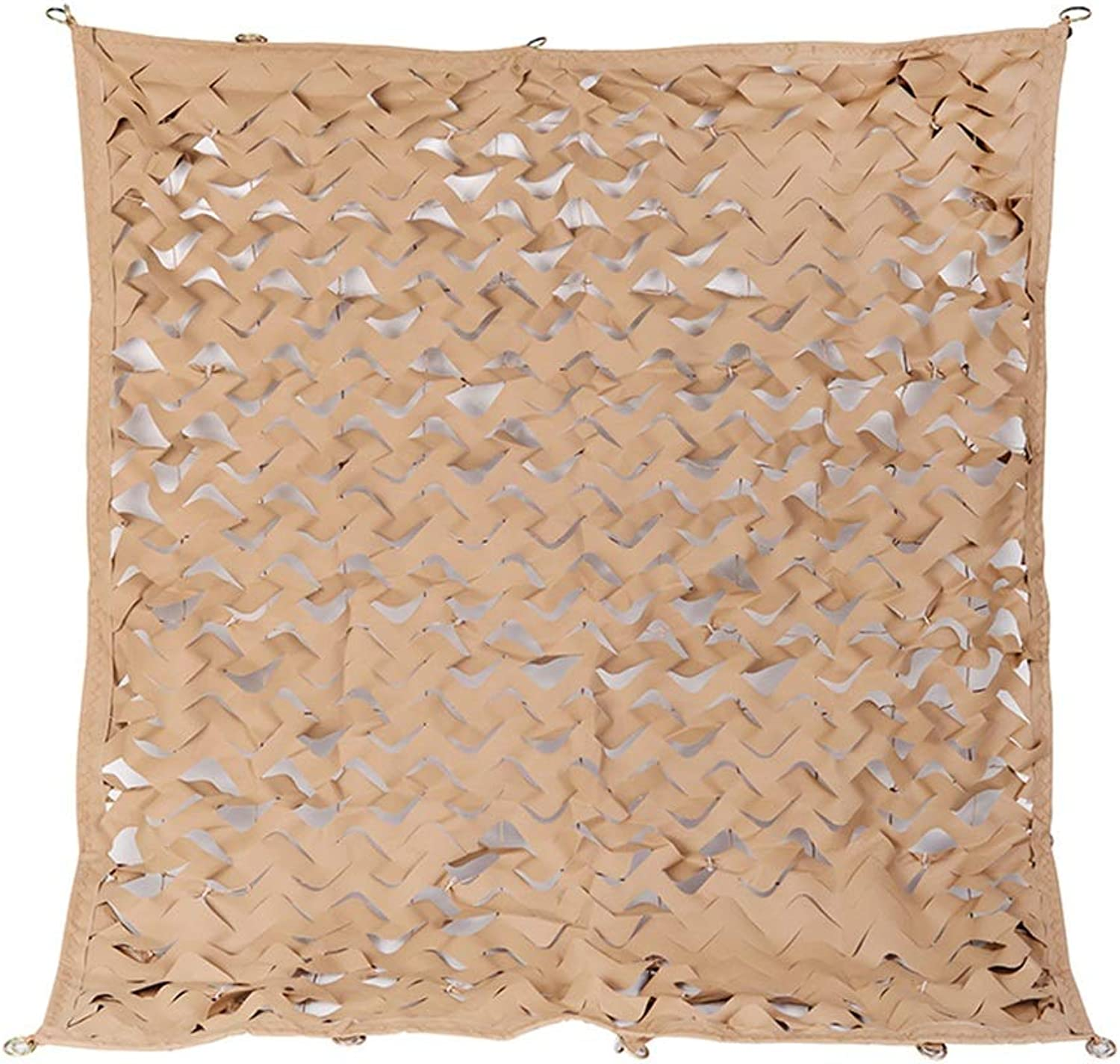 HAIPENG Camouflage Netting Camo Net Sunscreen Sunshade Tent Hunting Shooting Hide Army Camping Desert Decorations Outdoor (color   Beige, Size   2x8m)