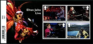 Great Britain Stamps Elton John Concert Performances Issued by Royal Mail