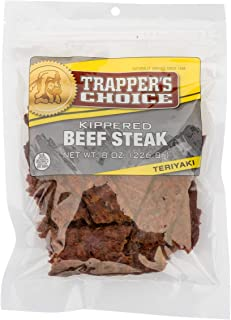 Old Trapper | Trapper's Choice | Teriyaki Kippered Beef Steak | Traditional Style Real Wood Smoked Beef | Made from 100% B...