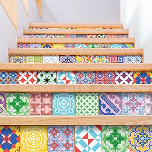 Ambiance-Live Azulejos hidráulicos Adhesivos para Pared–Azulejos–20x...