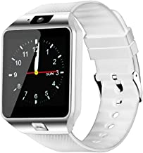 BEESCLOVER Fashion Blueteeth Smart Watch with SIM and Memory Card Support for and-roid & i-OS Devices White
