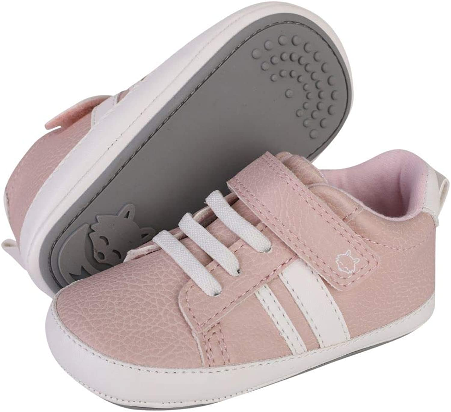 HIPFOX Baby Anti-Slip Rubber Sole Shoes | Premium Soft Sneakers for Infants, Crawlers, & First Walkers Ages 6-24 Months