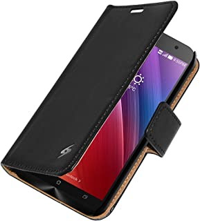 Amzer Flip Case Folio Cover with Card Slot for Asus Zenfone 2 ZE550ML/ZE551ML - Retail Packaging - Black