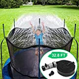 CT Aspersor Trampolín Set,Cama elástica de Jardín Water Play Sprinklers Pipe,...