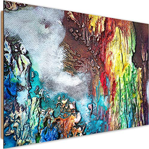 Cuadro Imagen XXL Abstracto Impresión de arte Horizontal Artístico Multi 120x80 cm