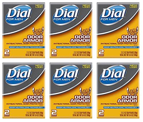 Lot of 12 Bars (One Dozen) Dial for Men Odor Armour Bar Soap 3.2 oz/bar