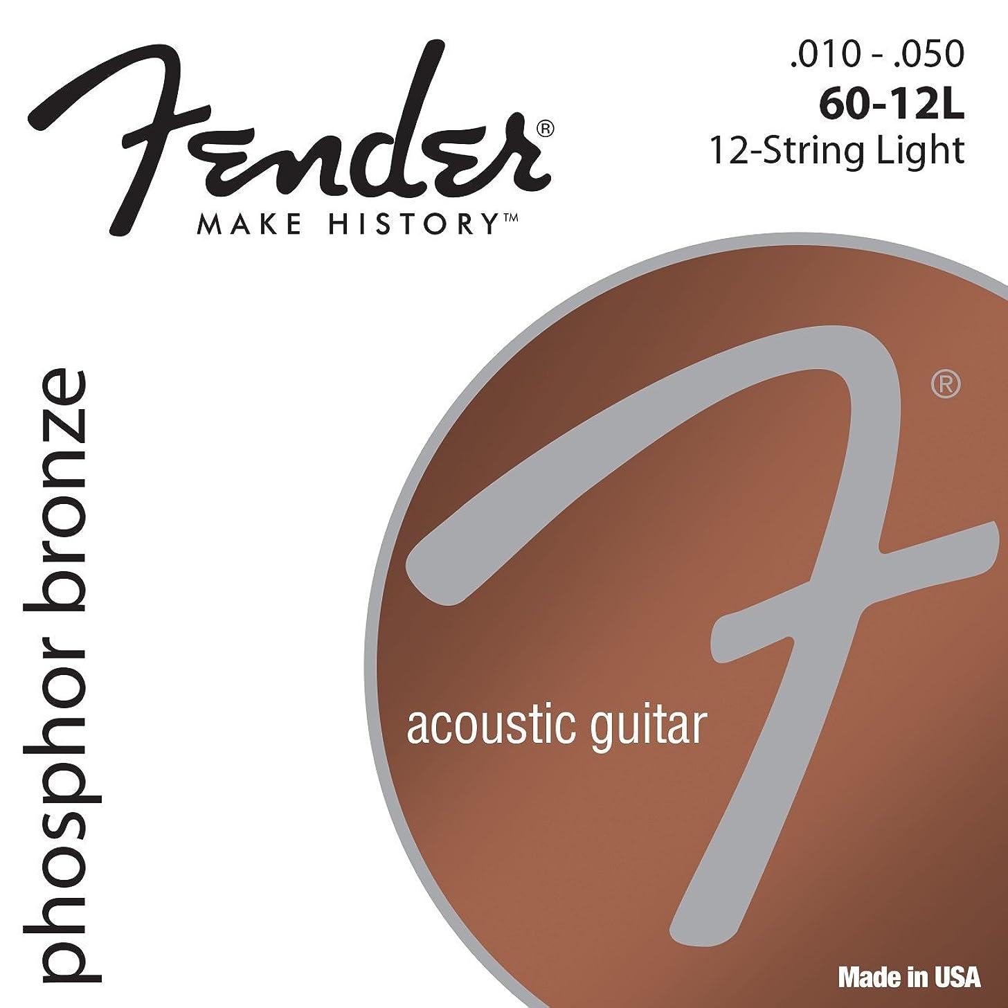 Fender Phosphor Bronze Acoustic Guitar Strings, Light