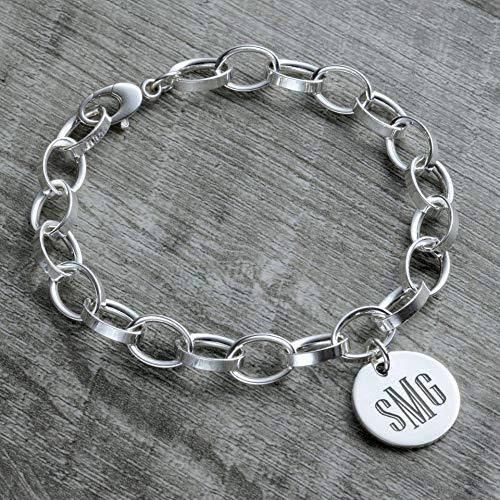 Personalized Monogram Charm Bracelet in Sterling Silver