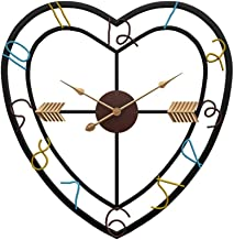 LYDIANZI Creative Heart Shape Iron Grid Photo Wall Picture Display Hanging Wall Aluminum Metal Pointer Living Room Clock Fashion Home Decoration Wall