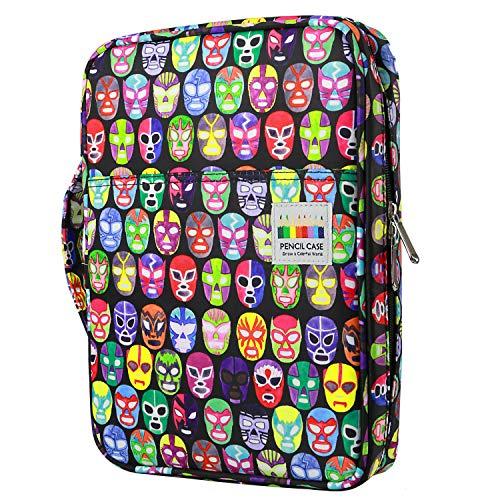 YOUSHARES 166 slots caja de lápices de colores, 110 ranuras gel plumas FO organizador de la caja para colorear, práctico soporte de lápiz de color multicapa 06