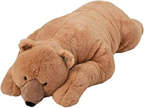 Wind & Weather Super-Soft Big Bear Hug Body Pillow with Realistic Accents Brown Bear 48 L
