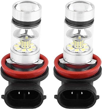 Bombilla de luz antiniebla H8 / H11, 2 pzs. Coche 100W Conversión de LED super brillante Bombilla de luz antiniebla, Luz blanca, 1800