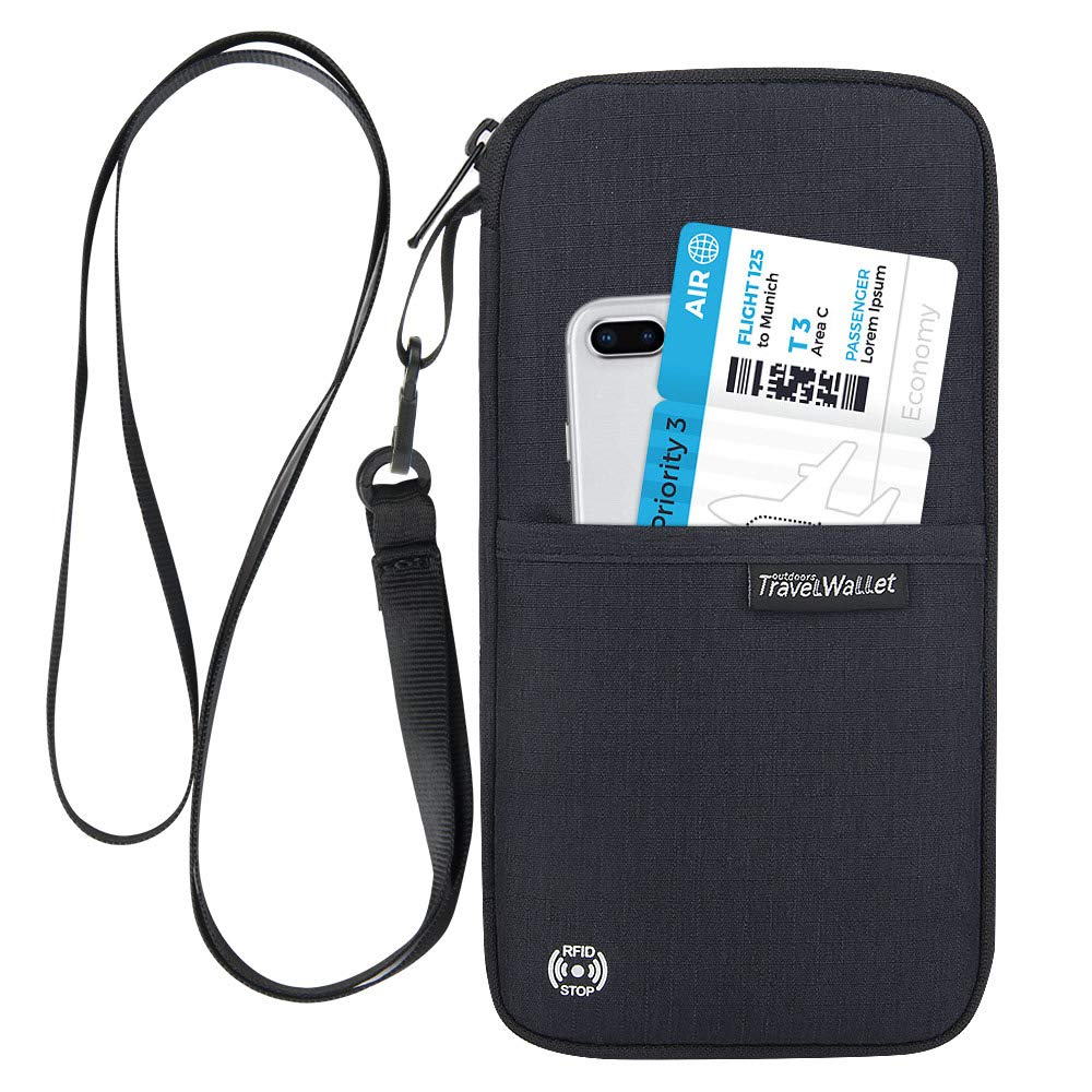 Travel Passport Wallet Passport Holder for Passport,Credit Cards,Boarding Passes