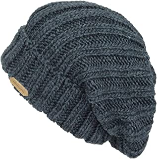 The Hatter Trendy Warm Soft Stretch Long Folded Beanie