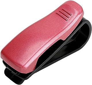 Holdream Voiture Lunettes Cases support pour lunettes de soleil Clip pare-soleil de voiture Clip de fermeture Rouge