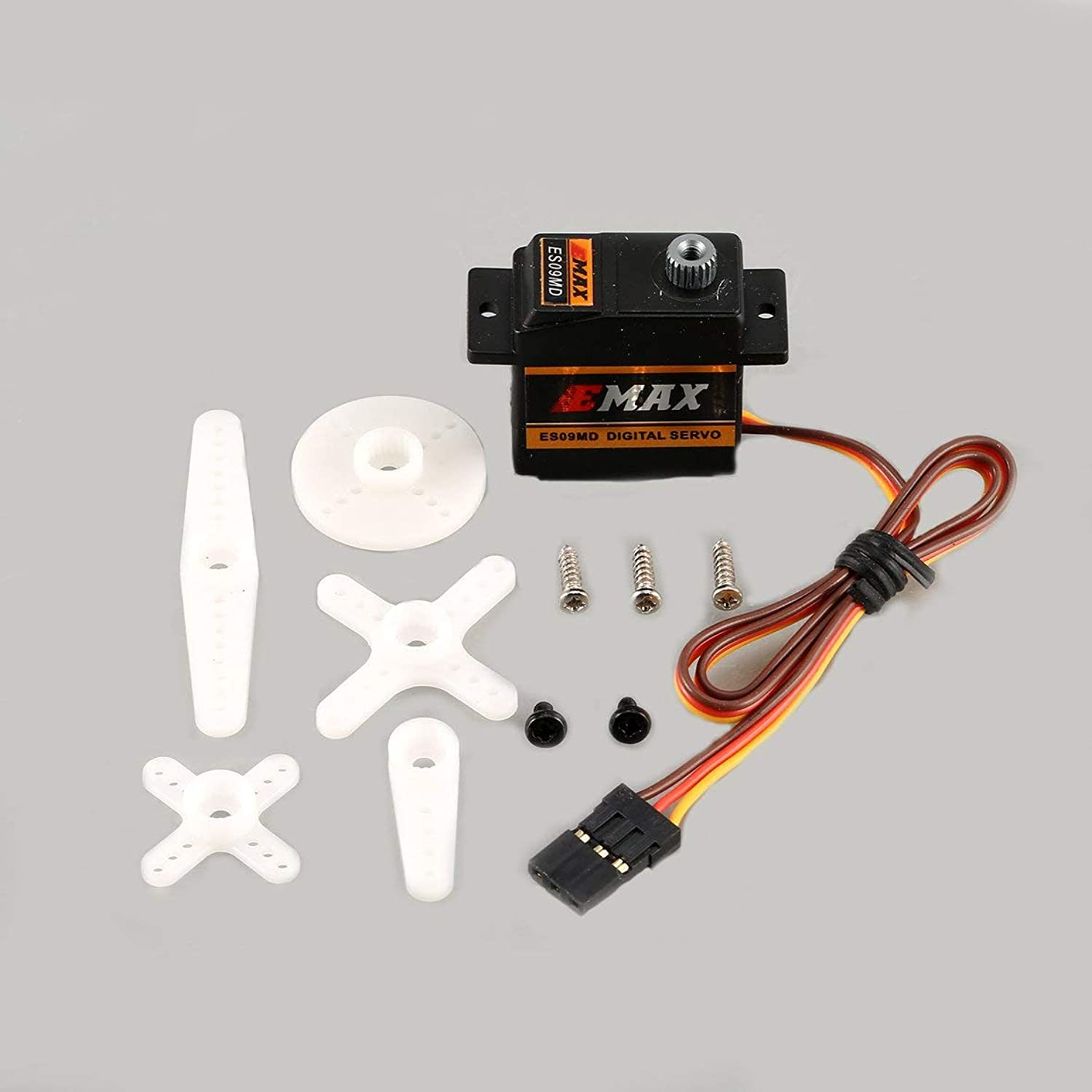 Tivolii for EMAX Digital Metal Gear Servo ES09MD 4.8-6V 2.6kg 0.10 0.08 Sec 60 Degree for RC 450 Helicopter Airplane Copter Accessories