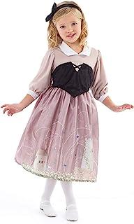 Little Adventures Sleeping Beauty Day Dress with Headband Princess Costume (Large Age 5-7)