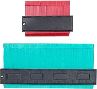 Contour Gauge Profile Gauge, SXUUXB 2 Pack Contour Gauge Set Shap Profile Duplicator Widened Plastic Gauge, Outline Duplic...