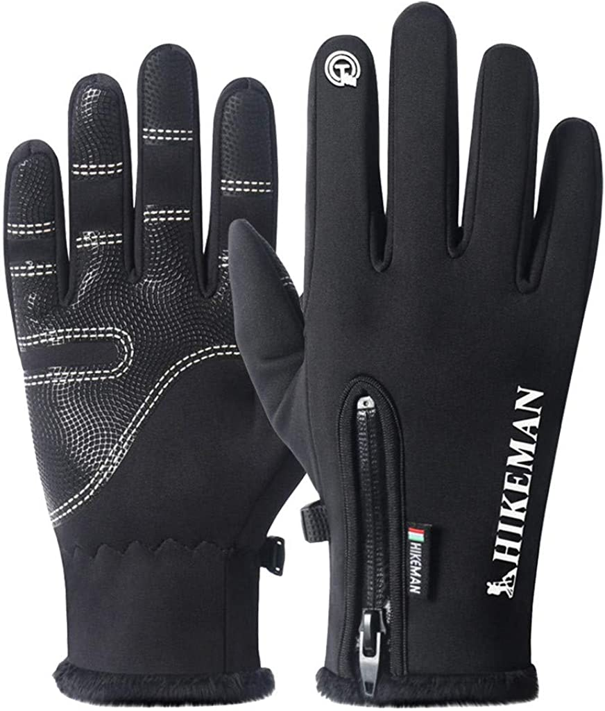 Vedolay Winter Warm Gloves for Men and Women, Warm Ski Outdoor Riding Sports All-in-one Silicone Non-Slip Gloves