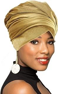 Velvet Turban Head Wrap Scarf,African Long Scarf Turban Shawl Headwrap,Soft Stretchy