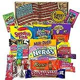 Grand panier de bonbons américains | Sélection de confiseries chocolats authentiques | Assortiment inclut Jolly Rancher Hersheys Reeses Kool-Aid | Coffret cadeau vintage de 26 pièces
