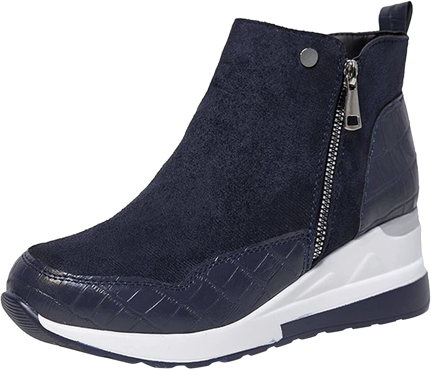 Women's Canvas Sneakers Women's Ankle Boots  BootiesRetro Round