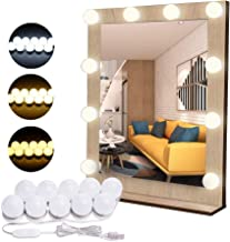 Flybiz DIY Vanity Lights Strip Kit, USB-kabel Hollywood make-up spiegel lichten met 10 dimbare lampen, 3 kleurmodi & 10 he...