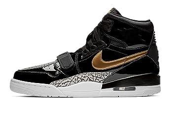 Jordan Mens Air Legacy 312 Basketball Sneakers (Black / Metallic Gold-white, 13 M US)