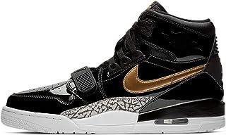 Mens Air Legacy 312 Basketball Sneakers (Black / Metallic Gold-white, 13 M US)