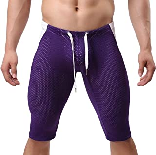 Men's Drawstring Waist Gym Workout Fitness Swim Trunk Shorts Pants
