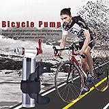 Demeras Langlebige CO2-Reifenpumpe Mini Bike Bicycle Bumps CO2-Inflator Presta Ball Pumpe für...