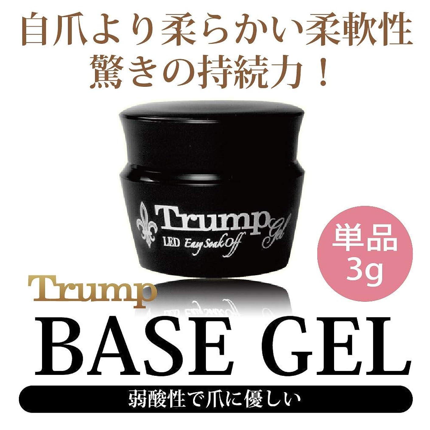 顕微鏡算術路面電車Trump gel トランプ ベースジェル 爪に優しい 日本製 驚きの密着力 リムーバーでオフも簡単3g