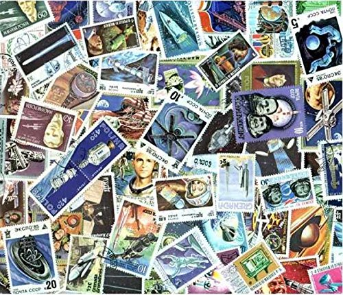 Space Stamp Collection of 500 Different Worldwide Stamps