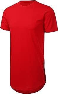 JD Apparel Men's Hipster Hip Hop T-Shirt with Side Zipper Trim