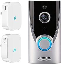 Draadloze Wifi Video Deurbel, Tuya Smart Life 1080P Visuele Intercom PIR Bewegingsmelder IR Nachtzicht Home Security Camer...